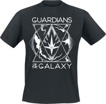 Guardians Of The Galaxy - Classic Logo -T-skjorte - svart