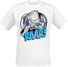 Guardians Of The Galaxy - Groot - Raar! -T-skjorte - hvit