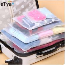 eTya 5PCS/Set Women Men Travel Luggage Packing Cube Organizer Bags PVC Waterproof Cosmetic Bag
