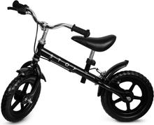 """STOY, 12"""" Springcykel med Handbroms Svart"""