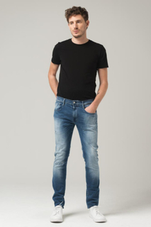 Replay SLIM FIT JEANS RIPPED ANBASS Man
