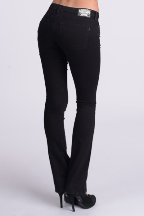 Crocker SKINNY FLARED FIT JEANS BLACK Kvinna