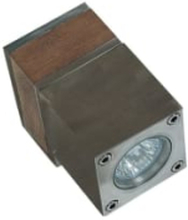Royal Botania Q-BIC udendørs væglampe, 1 lampe, Rustfrit stål