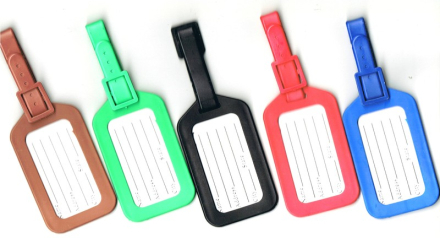 Bagagetag / Addresstag / Luggage tag - Brun