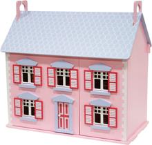 STOY, Dolls, Dukkehus med møbler, Rosa