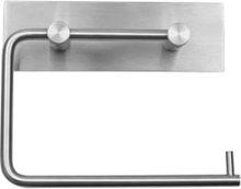 Randi Line 18 Bakplate til toalettrullholder, Børstet rustfrit stål