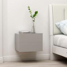 vidaXL Sängbord grå 40x30x30 cm spånskiva