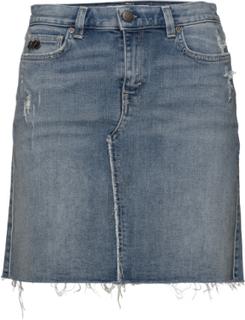 feb002e4 Bubbleroom. Stretch-N-Raw Jeans Skirt