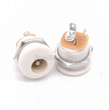 10Pcs DC-022 5.5-2.1 / 5.5 x 2.1mm DC Power Socket/ DC Connector Panel Mounting DC022 White