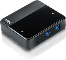 ATEN USB 3.0 hubb för 2 datorer, 4xUSB A hona, 2xUSB B hona, svart