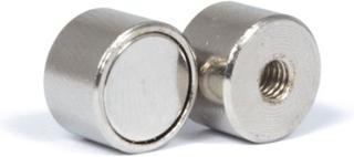 Pot magnet Ø 12 x 8 mm med innvendig gjenge M4 | Holdemagneter