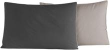 2 st Örngott DOZMARY Anthracite/Gris Perle (50x70 cm)