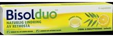 Bisolduo Citron Eukalyptus Sugtablett. 80 mg/5mg, 18 st.