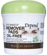Depend Eye make-up remover pads Sminkborttagning utan olja, 80 st