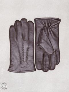 Gant Leather Gloves Hansker og votter Black Coffee