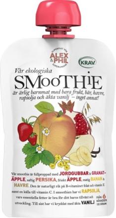 Alex&Phil smoothie med persika & röda frukter 100 g