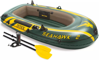 Intex Seahawk 2 oppustelig gummibåd med årer og pumpe 68347NP