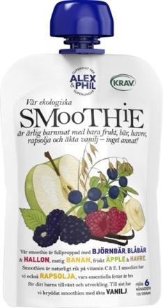 Alex&Phil smoothie med blåa bär & vanilj 100 g