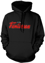 Fantomen Distressed Logo Hoodie, Hooded Pullover
