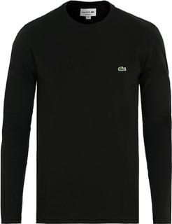 Kortærmede t-shirts von Lacoste. Grösse: 3 - S. Farbe: Sort. Lacoste Long Sleeve Crew Neck Tee Black