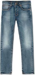 Jeans von Nudie Jeans. Grösse: W33L32. Farbe: Blå. Nudie Jeans Grim Tim Organic Jeans Worn In Broken