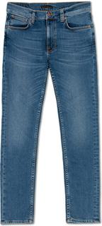 Jeans von Nudie Jeans. Grösse: W34L32. Farbe: Blå. Nudie Jeans Lean Dean Organic Jeans Lost Orange