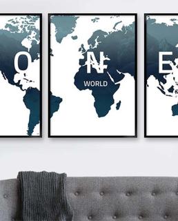 verdenskort oceanblaa