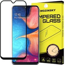 Täysikokoinen Samsung A20e Temperoitu Panssarilasi - Musta