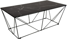 Cube Soffbord - Glas/svart