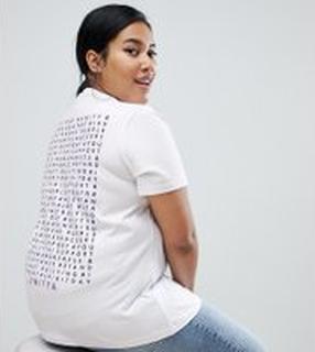 ASOS DESIGN X glaad& Spirit Day - Curve - T-shirt med tryck på ryggen - Vit