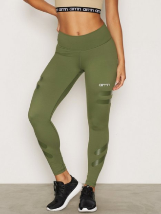 Treningstights - Grønn Aim'n Green Tribe High Waist