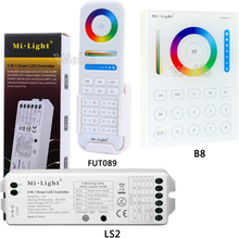 B8 Wall-mounted Touch Panel;FUT089 8 Zone remote RF dimmer;LS2 5IN 1smart led controller for RGB+CCT led strip Miboxer