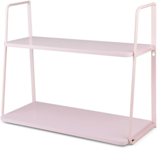 JOX, Furniture Seinähylly 2 tasoa Vaaleanpunainen