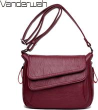 Winter Style Soft Leather Luxury Handbags Women Bags Designer Woman Messenger Shoulder Crossbody Bags For Women 2019 Sac A Main