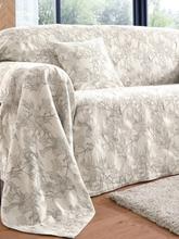 Überwurf für Couch und Bett ca. 160x270cm Peter Hahn weiss