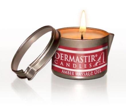 Dermastir Massage stearinlys olie - rav 150g