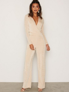 NLY Trend Glamorous Jumpsuit Jumpsuits Champagne