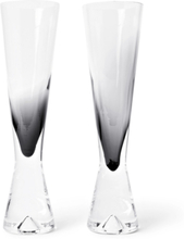 Tank Set Of Two Dégradé Champagne Flutes - Black