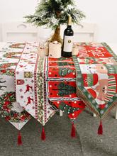 Weihnachten Elch Schneemann Tischläufer Frohe Weihnachten Dekor für Home Ornamente