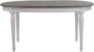 Greve ovalt matbord 160 cm - Vit/Grå Vintage