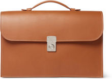 Leather Briefcase - Tan