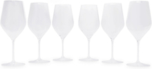 Good Size N°2 Set Of Six Wine Glasses - Clear