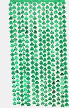 1PC 1 * 2M Glücklicher St. Patrick's Day Grüner Klee Lametta Regenvorhang Metallic Folie Fransen Party Vorhang Hochzeit