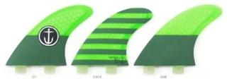 CF-Medium Thruster Twin Tab Fin green Gr. Uni