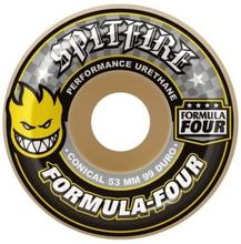 Spitfire Formula Four 99D Conical II 54mm Wheels yellow print Uni