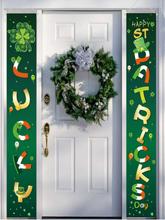 Happy St. Patrick's Day Banner Home Yard Indoor Outdoor Irish Party Dekor Tür Vorhang Festival Atmosphäre Couplet Banner