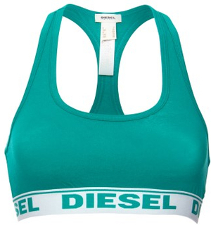 Diesel Bh Woman Miley Tank Top Grøn bomuld Small Dame