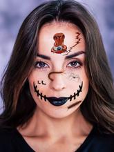 Temporäre Halloween Tattoo Aufkleber Requisiten Party Maskerade Bloody Scar Tattoo Face Sticker