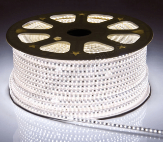 LED Strip SMD5050 DC230V Dimbar Kaldhvit IP67
