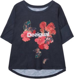 Desigual - unisex - Women's Basic T-shirt - Scarlet Bloom |Desigual.com - Desigual Scarlet Bloom - Size L